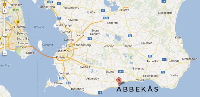 Karta Abbekås, Map Abbekas